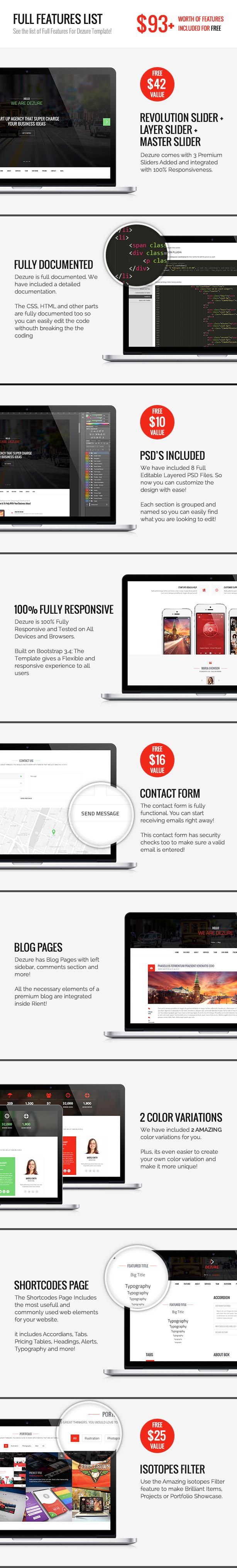 Dezure | Responsive OnePage Multi-Purpose Parallax